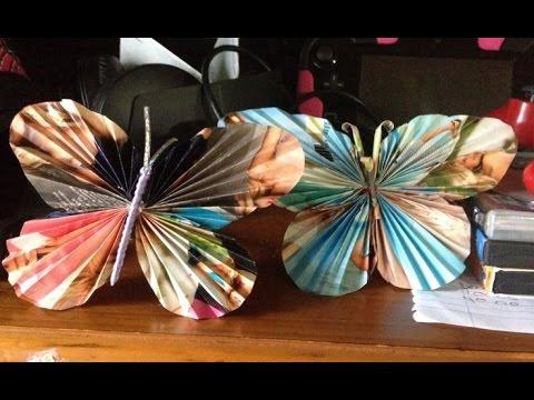 Manualidades mariposas de papel f cil y r pido for Como hacer artesanias en casa