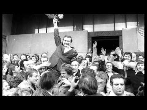 14th August 1980: Lech Wałęsa leads Gdańsk shipyard workers on strike