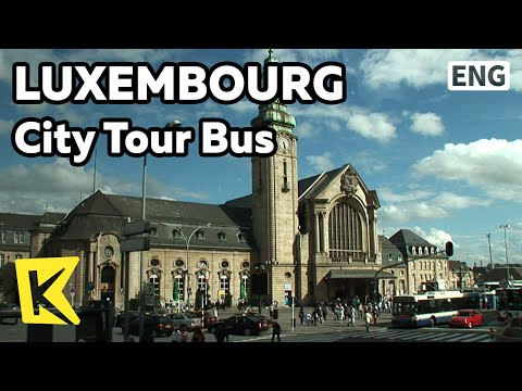 【K】Luxembourg Travel[룩셈부르크 여행]시티투어버스/City Tour Bus/Petrusse Valley/Golden Lady/Monument/Square/Town