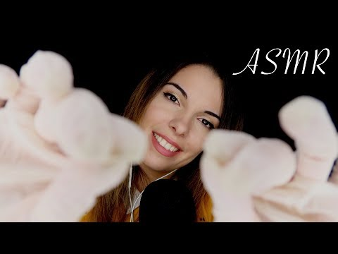 [ASMR] Attention Personnelle 🤗 - Mousse, Huile & Latex Gloves (Plucking, Face touching, Squishing)
