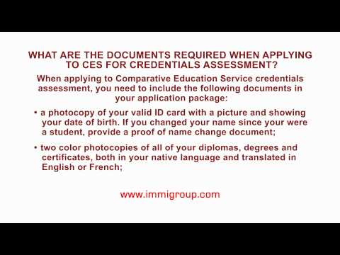 What are the documents required when applying to CES for