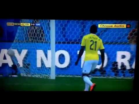 Colombia 3-0 Greece- Brasil 2014 World Cup- James Rodriguez goal!!
