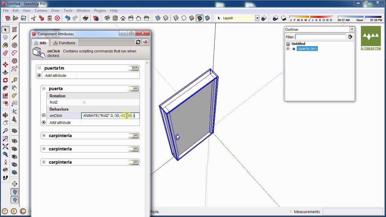 componentes dinamicos para sketchup