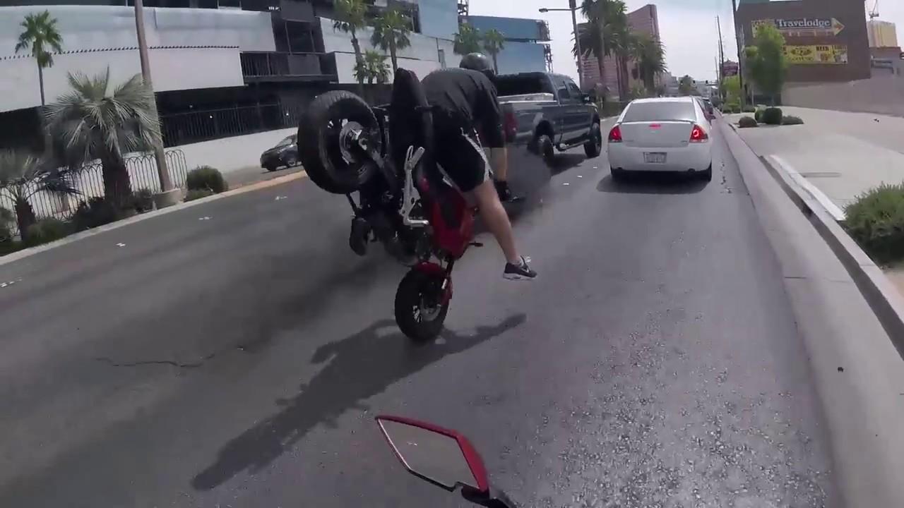 bad motorcycle crash pavement faceplant youtube