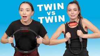 TWIN vs TWIN playing Ring Fit Adventure  - Merrell Twins