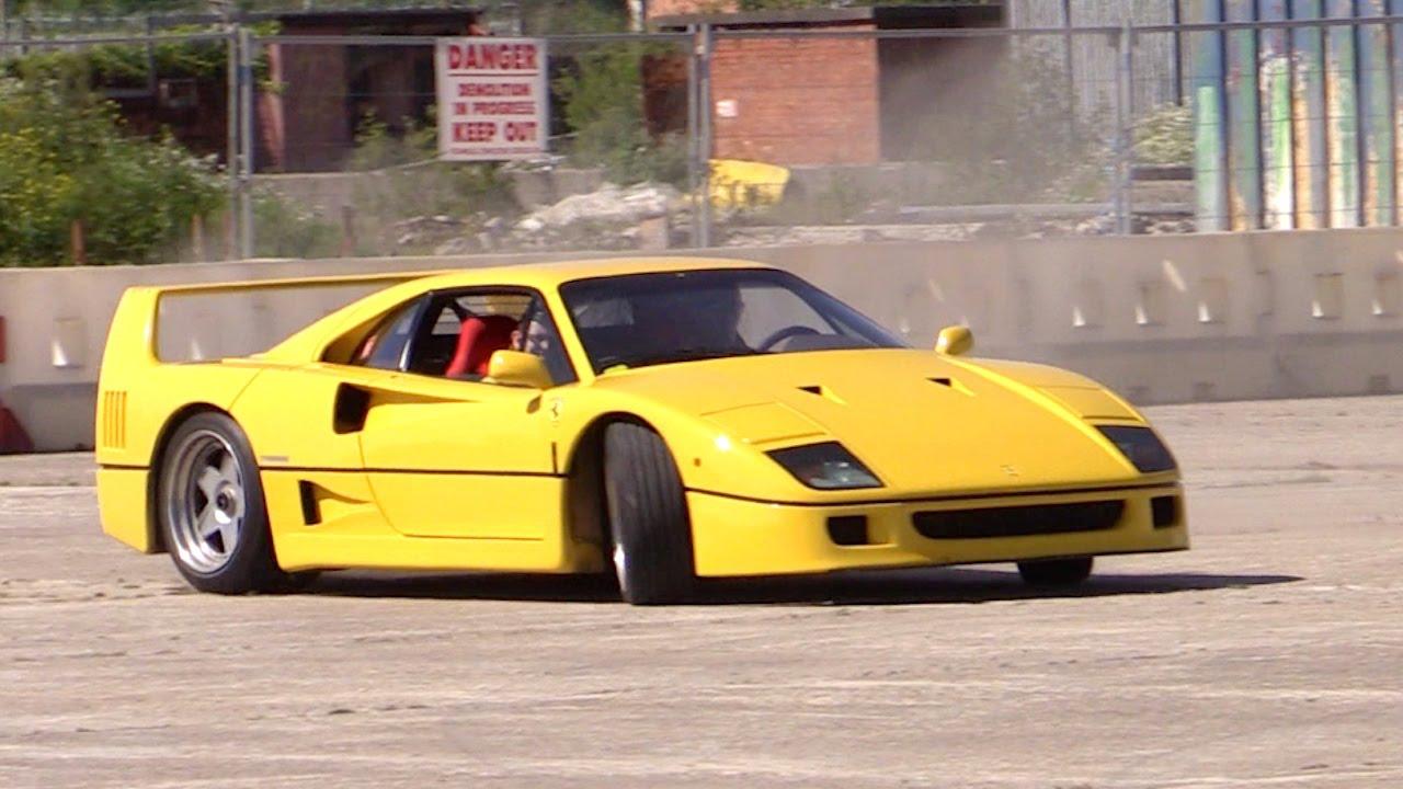 1m Ferrari F40 Burnout & Donuts - YouTube