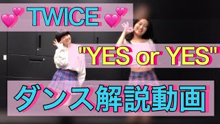 TWICE (트와이스) - YES or YES cover 振り付け解説