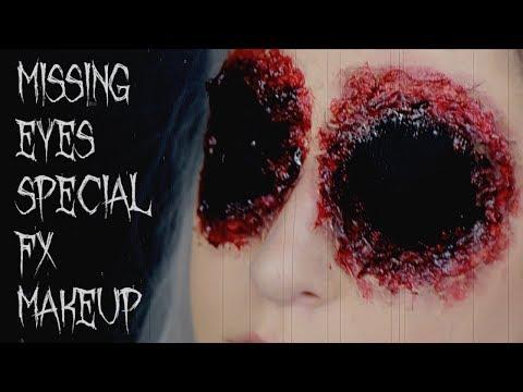 missing eyes sfx makeup tutorial | 31 Days of Halloween