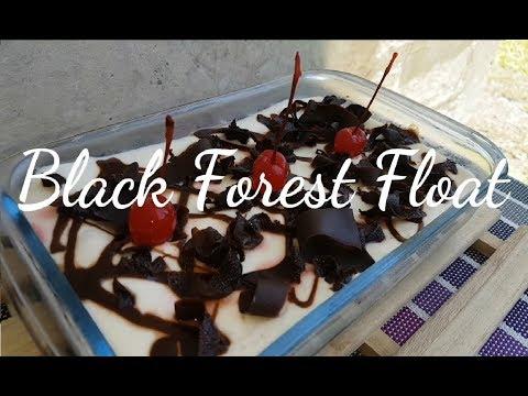 Black Forest Float   Black Forest Ice box cake   No bake Black Forest cake
