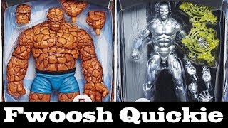 Quickie! New Marvel Legends Thing and Silver Surfer Promo Pics! Fantastic Four Hasbro Walgreens