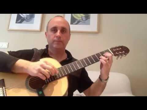 ARTIFICIAL HARMONICS on Classical Guitar - guitar lesson