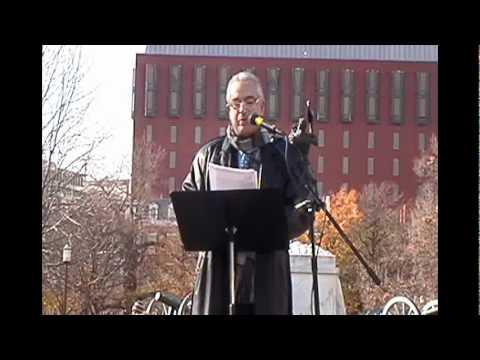 David Lazar speaks at Washington, DC demonstration