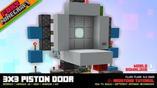 How to make a 3x3 piston door in Minecraft PE | Minecraft Bedrock Edition Tutorial (MCBE / MCPE)