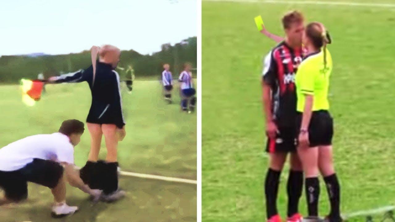 Esto Sucede en el Futbol Cuando el Arbitro es Mujer