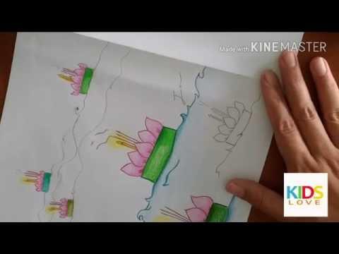 Coloring krathong: หัดวาดรูประบายสีกระทง ระบายง่ายๆกับพี่จุ๊บ