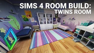 The Sims 4 Room Build - Twins Room