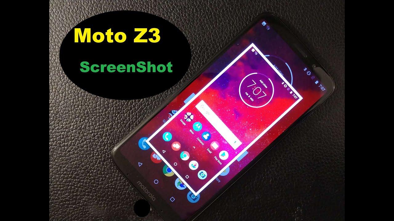 Motorola Moto Z3 How To Take Screenshot Youtube