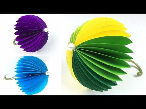 Kids Paper Craft Ideas Easy | Crafts With Paper Easy | Umbrella With Paper | Paper Craft
