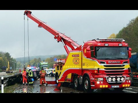Scania Boniface 8x4 Heavy Recovery of 24 meters Scania ekipage, Sweden