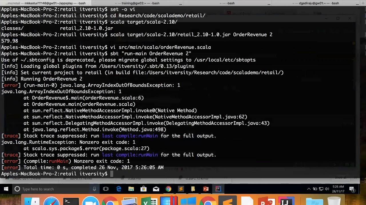 17 Scala Fundamentals - Develop and build Scala+sbt applications using  IntelliJ