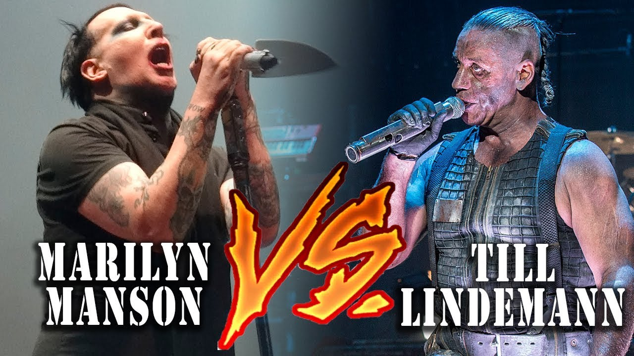 ✔ Marilyn Manson vs Till Lindemann - Deu Ruim no Rock