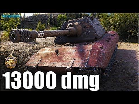 13К УРОНА медаль Пула ✅ World of Tanks рекорд по урону ✅ E 100 лучший бой