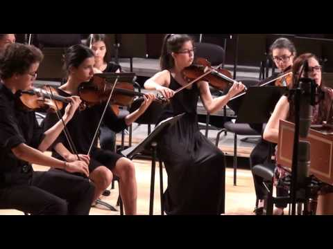 Bach Concerto in d-minor 1052 Isabel Fernandez Camerata Gareguin Aroutiounian ESML May 2017