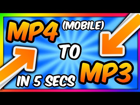 CONVERT MP4 TO MP3 IN SECONDS !!!