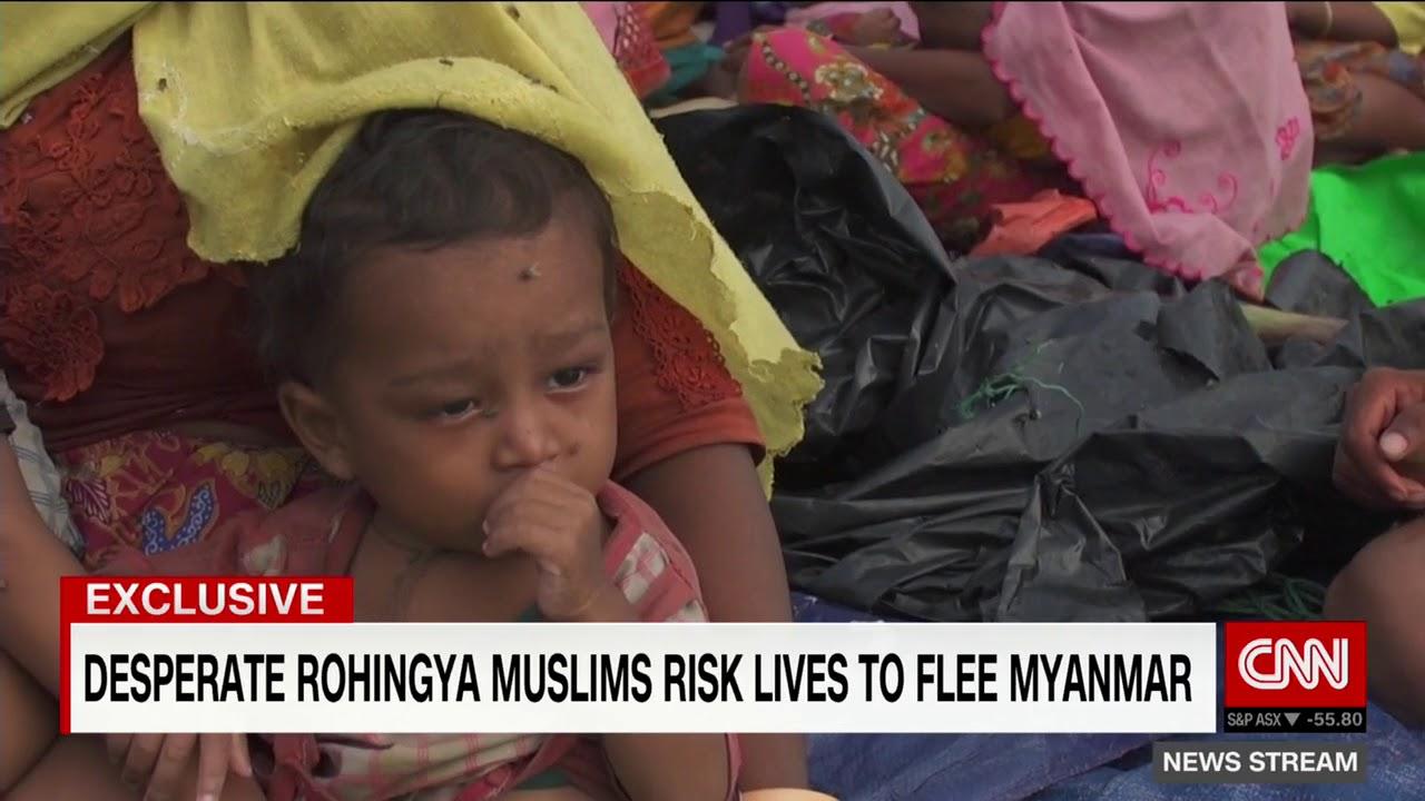 Rohingya Muslims risk lives to flee Myanmar