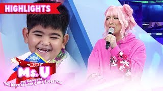 Vice is shocked with Yorme's definition of cheeks | It's Showtime Mini Miss U