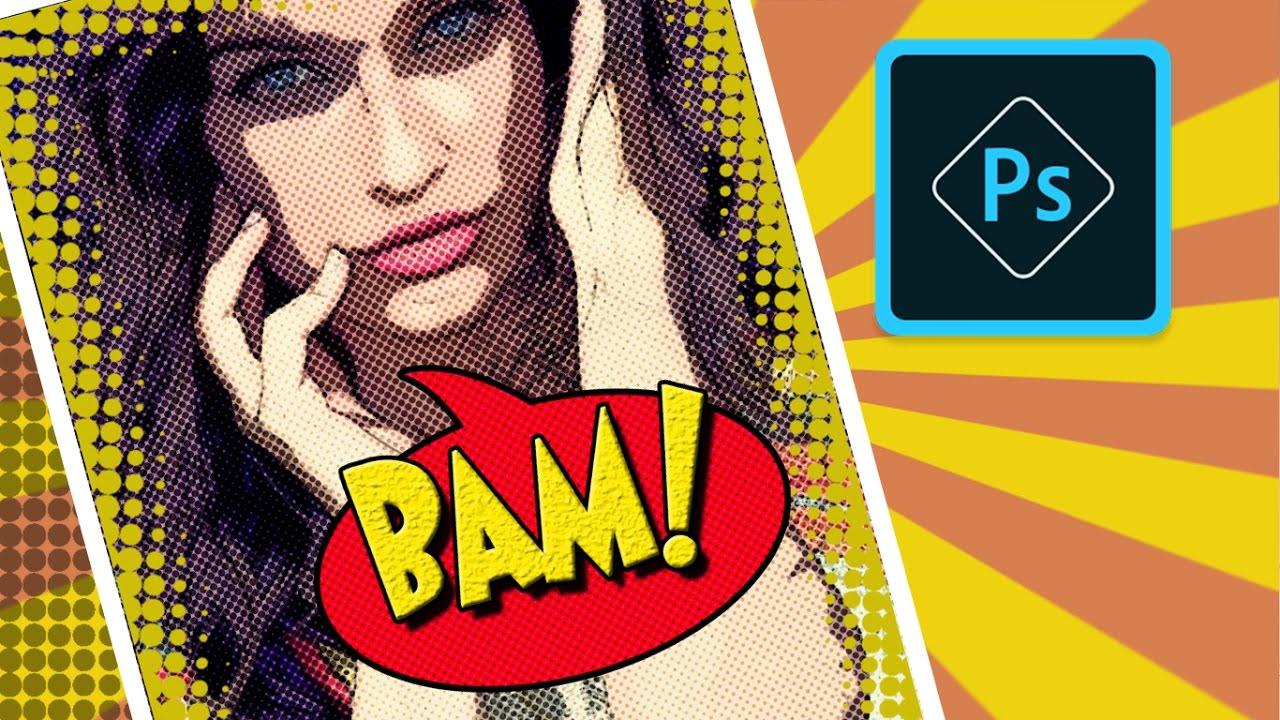 How To Create A Comic Book Cartoon Effect From Photo In Photoshop