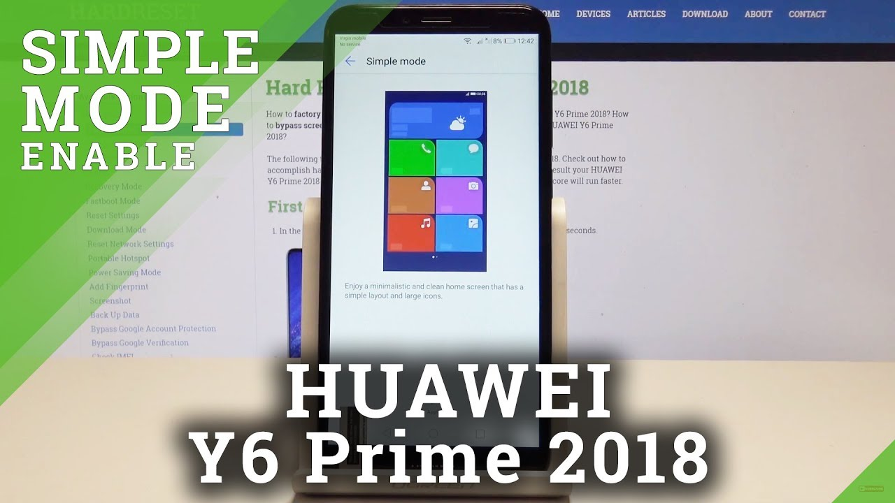 How to Enable Simple Mode in HUAWEI Y6 Prime 2018 - Turn On / Off Easy Mode