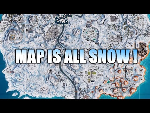 NEW MAP ! MAP IS ALL SNOW NOW , NEW UPDATE ! (FORTNITE BATTLE ROYALE) thumbnail