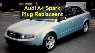 spark plugs replacement audi a4 tune up 1 8t b6 auto repair series