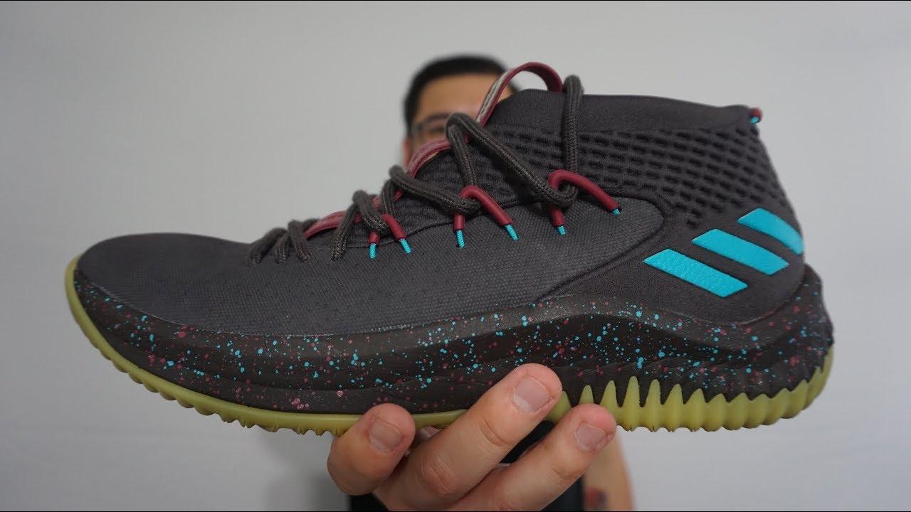 adidas dame 4 black glow