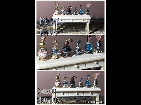 Dollhouse Miniatures Perfume Bottles DIY - Dollhouse Series