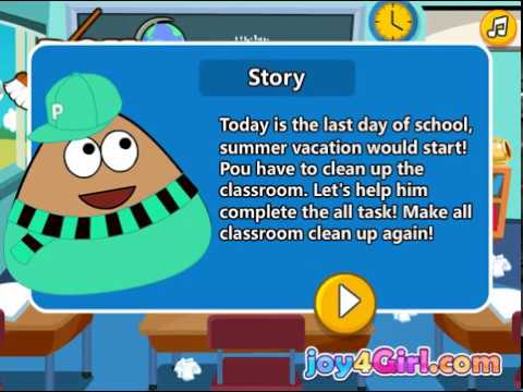 Pou classroom clean - Games for kids - Kids Game Channel