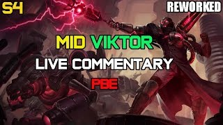 ✔ Challenger Mid [REWORK + 30 Kills] Viktor Ep. 16 | PBE | LIVE Commentary | League of Legends
