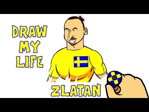 DRAW MY LIFE - Zlatan Ibrahimovic (Top quotes goals moments)(Parody cartoon animation)