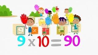 Las tablas de multiplicar completas (¡todas! - del 2 al 9) - video animado