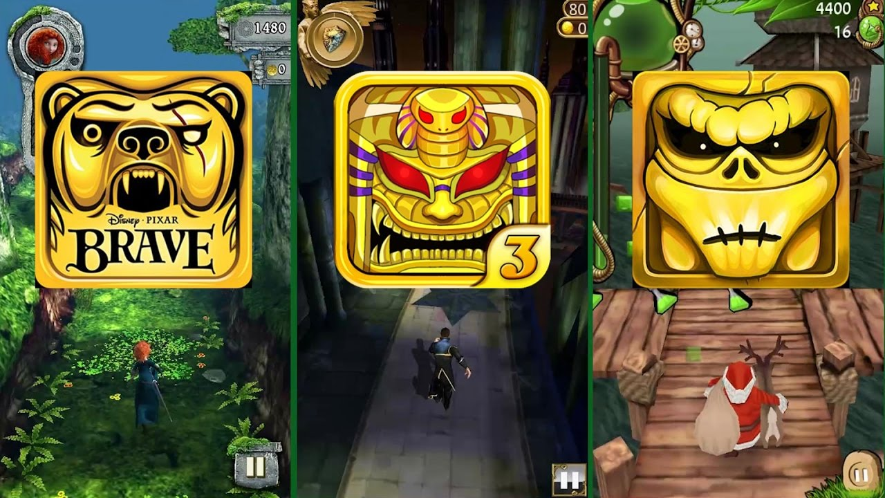 Temple Run Brave Vs Endless Run Pyramid Rush 3 Temple Run Oz Vs Temple Zombie Run Hd Android Ios Youtube