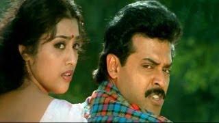Surya Vamsham Scenes - Bhanu Prasad Marriage With Swapna - Venkatesh, Meena