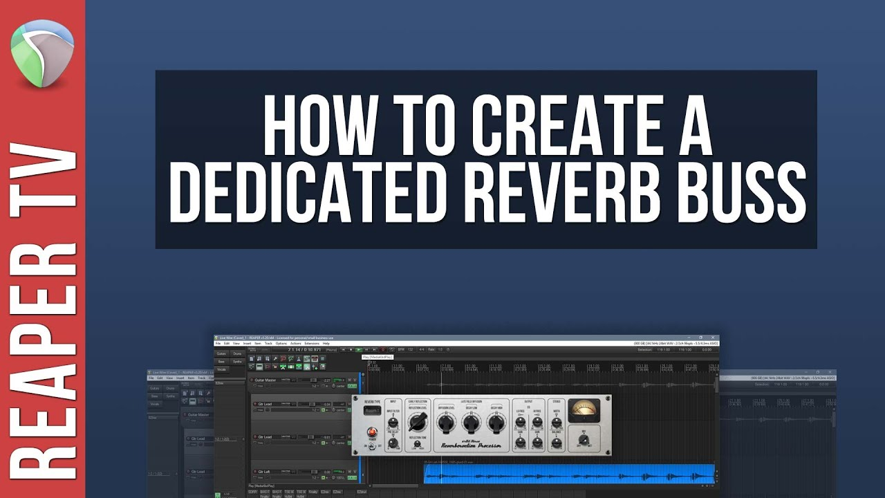 How To Set Up a Dedicated Reverb Buss in Reaper DAW