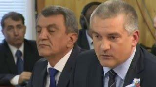 Путин с Аксеновым обсудили строительство моста и состояние дорог в Крыму