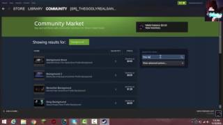 How to get steam backgrounds from the Market