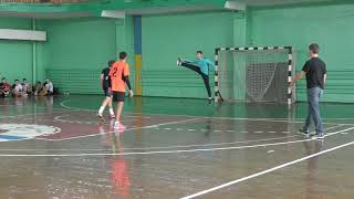 No.11 of the KSLI handball team - left back Oleg (U16). Ukrainian Championship, boys 2002