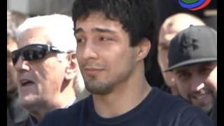 В Гунибе чествовали чемпиона Европы по вольной борьбе Шамиля Кудиямагомедова
