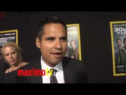 "Michael Peña Interview at ""30 Minutes or Less"" World Premiere"