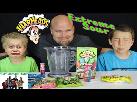 WarHeads Smoothie  Challenge - Family