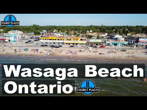 Wasaga Beach, Ontario, Canada   Beach Front Drone Aerial View   Tourist Places Attractions